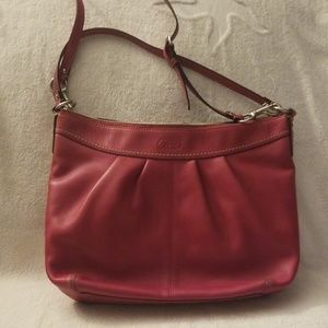 Coach Bags - Coach Ashley Pleated Leather Shoulder Bag